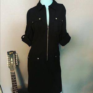 NWOT Michael Kors Utility Shirt Dress Large ZIP
